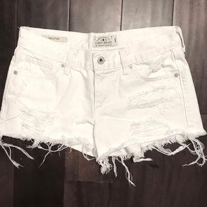 Lucky Brand The Cut Off Ripped Cotton Denim Short